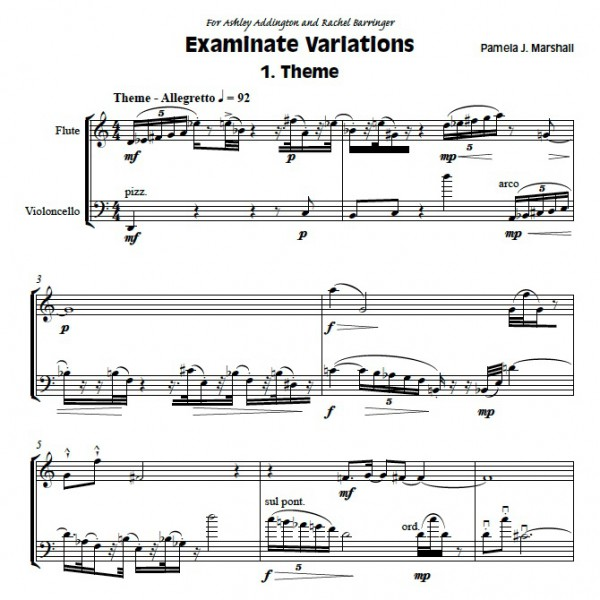 Examinate Variations Page 1