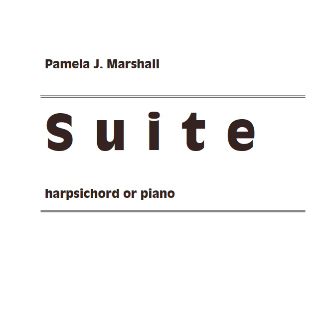 Cover for Suite for harpsichord, contemporary music for harpsichord