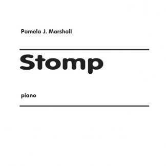 Cover page of Stomp, contemporary music for piano