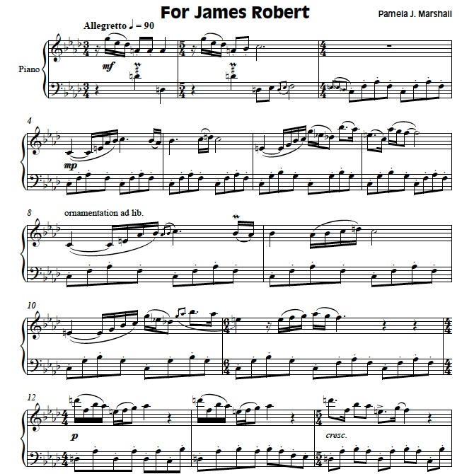 Page from Play Book, for piano students