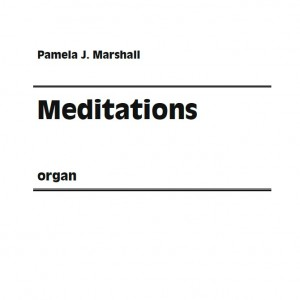 Cover for Meditations, contemporary music for organ