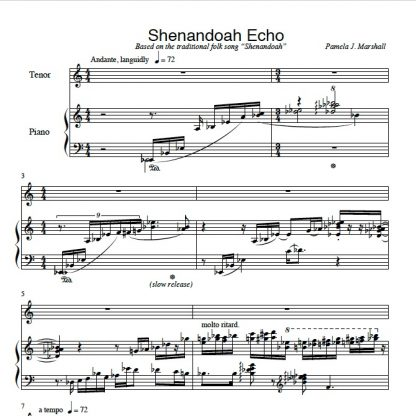 First page from Remember the Old Songs, Shenandoah Echo