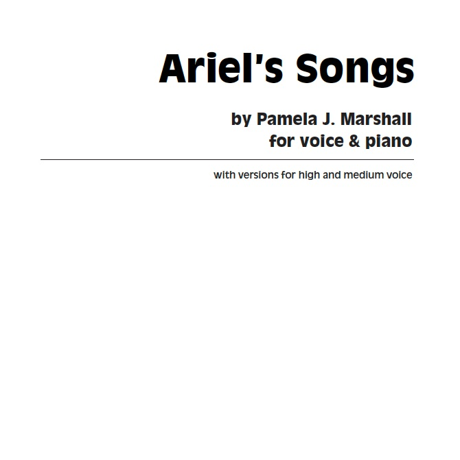 Cover from Ariel's Songs, classical takes on Shakespeare