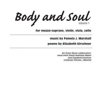 Cover for Body and Soul Volume 1, contemporary vocal chamber music