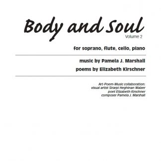 Cover for Body and Soul Volume 2, contemporary vocal chamber music