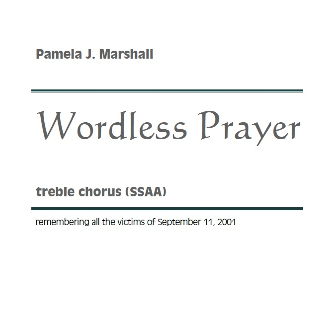 Cover of Wordless Prayer for SSAA chorus