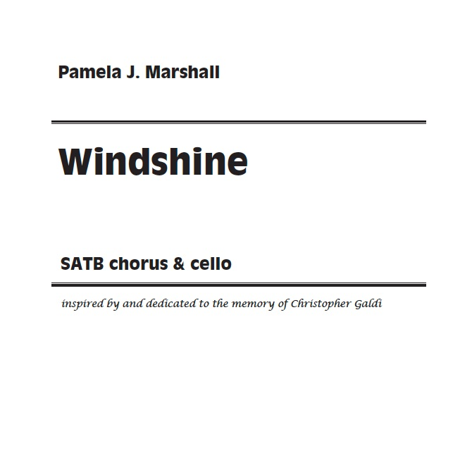 Cover of Windshine for chorus & cello