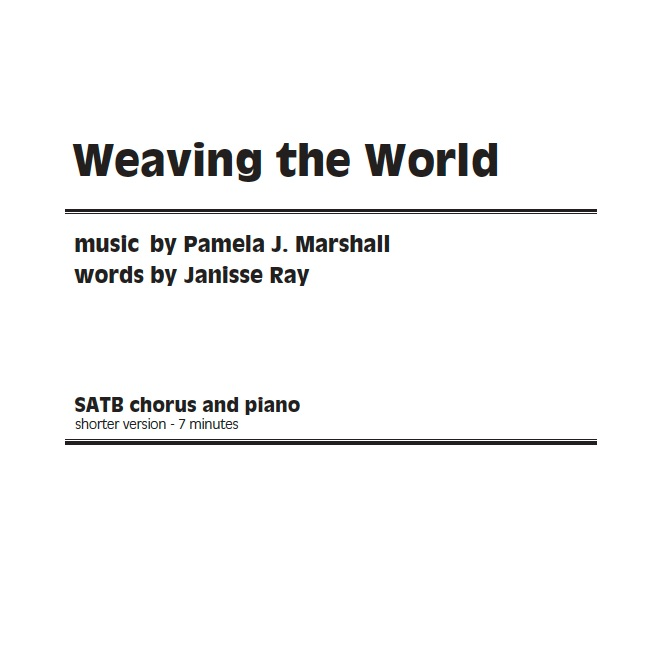 Cover for the anthem version of Weaving the World