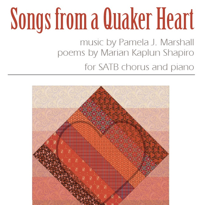 Front cover for Songs from a Quaker Heart for chorus and piano