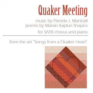 Front cover for Quaker Meeting for chorus and piano