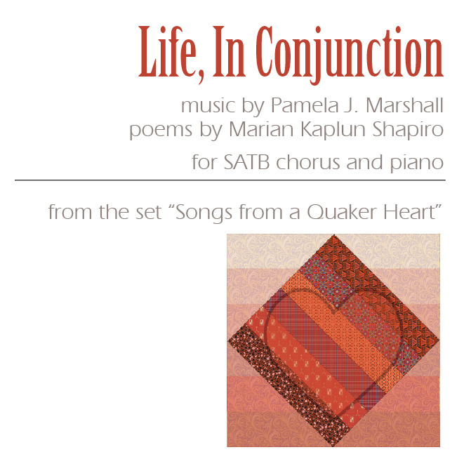 Front cover for Life, In Conjunction for chorus and piano