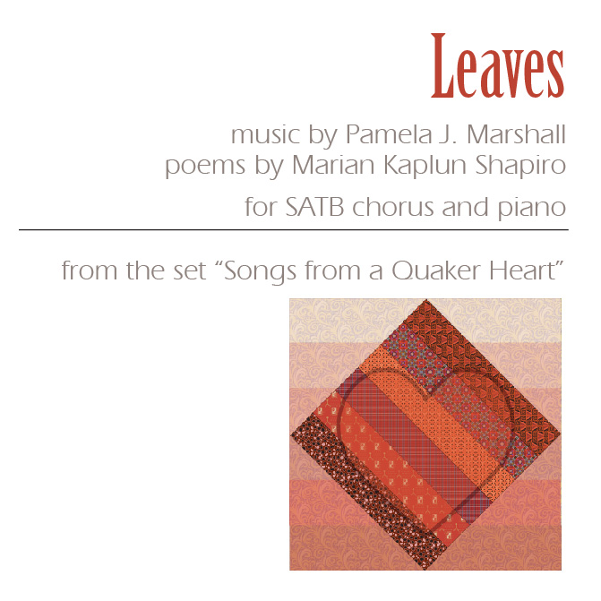 Front cover for Leaves for chorus and piano