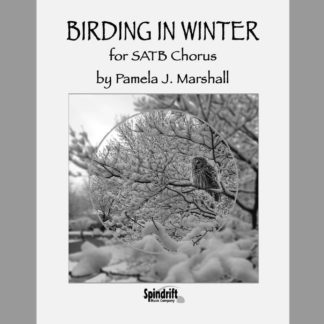 Birding in Winter, SATB, cover, full page