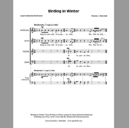 Birding in Winter, SATB, page 1