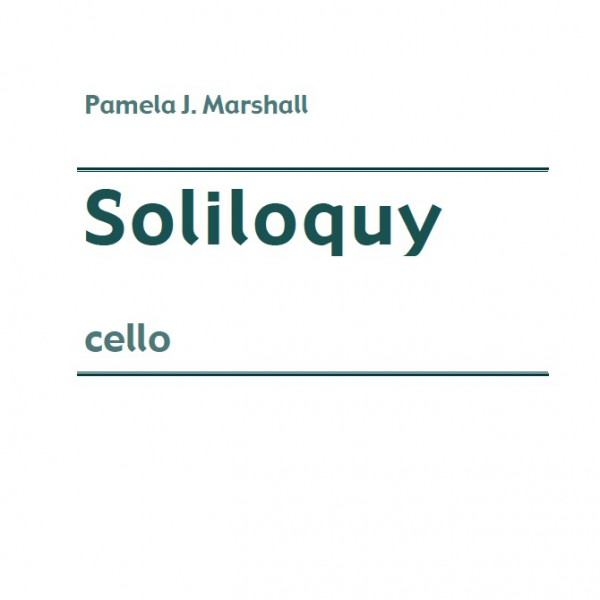 Soliloquy, contemporary cello solo