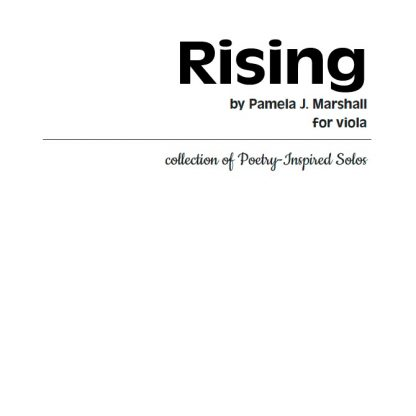 Rising, contemporary viola solo