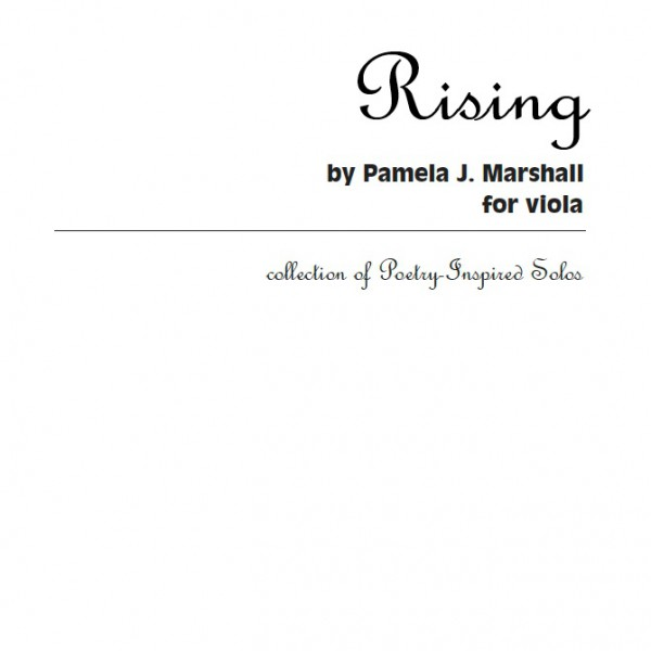 Rising, contemporary viola solo