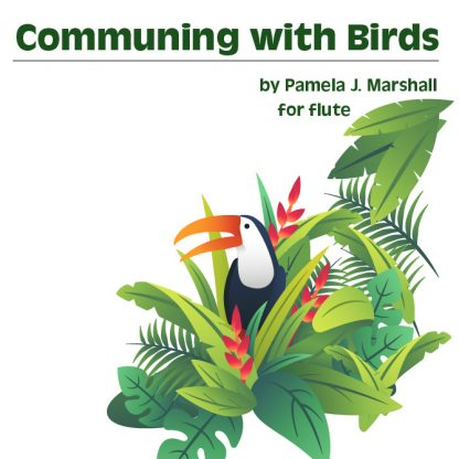 Communing with Birds for flute, cover image
