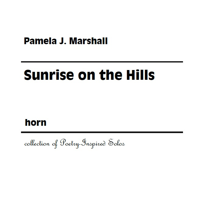 Cover for Sunrise on the Hills, poetry-inspired contemporary solo for horn alone