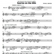 First page of Sunrise on the Hills, poetry-inspired contemporary solo for horn alone