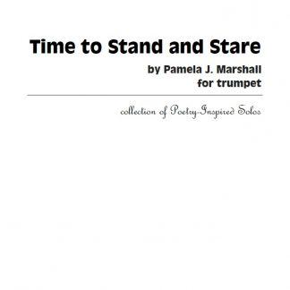 Cover for Time to Stand and Stare for trumpet alone