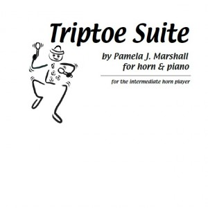 Cover for Triptoe Suite, solo for intermediate horn student