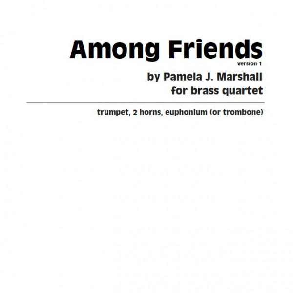 Cover for Among Friends, contemporary chamber music for brass ensemble