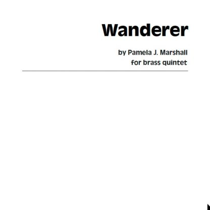 Cover for Wanderer, contemporary chamber music for brass quintet
