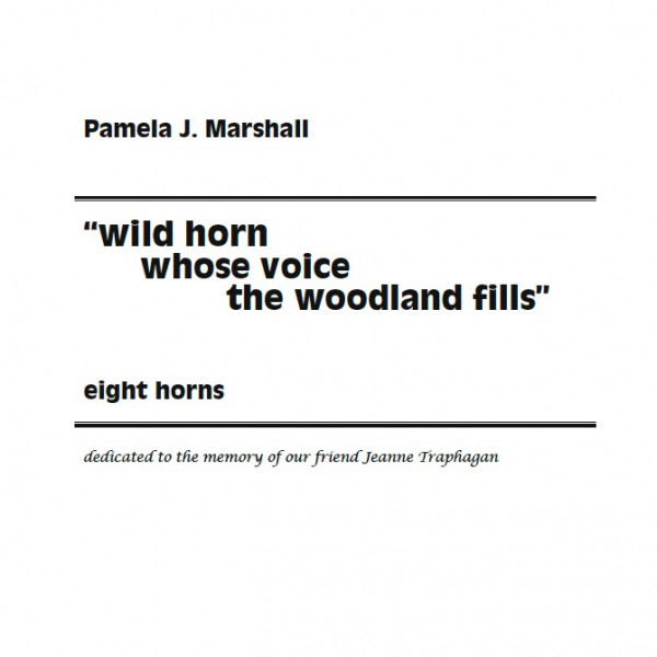 "Cover from ""wild horn..."", contemporary music for horn ensemble"