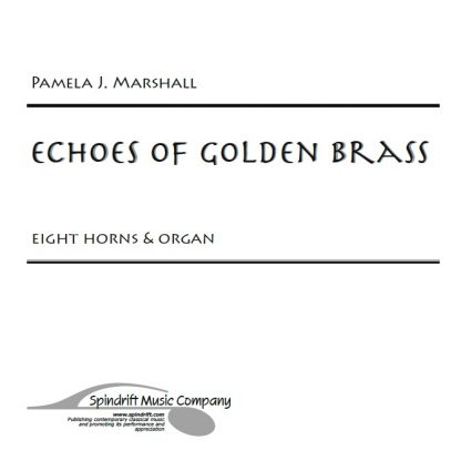Cover from Echoes of Golden Brass, music for eight horns and organ