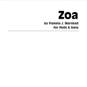 Zoa, contemporary chamber music for flute and harp, cover