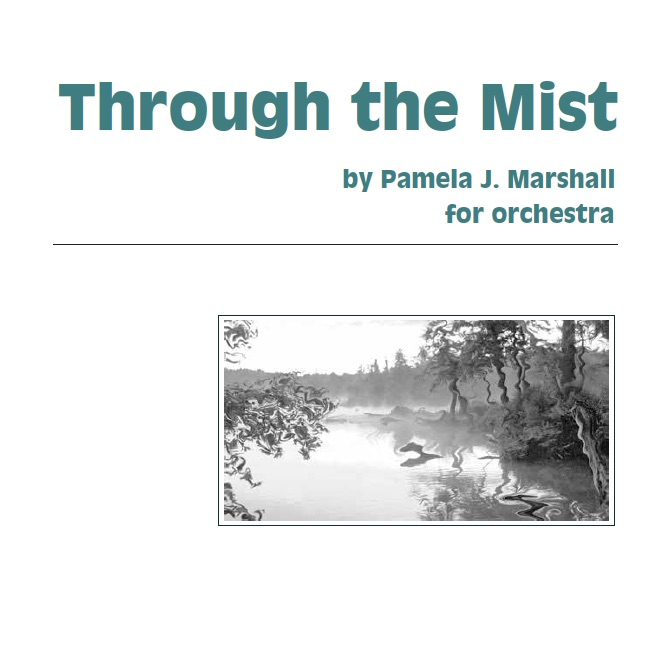 Front cover of Through the Mist for orchestra
