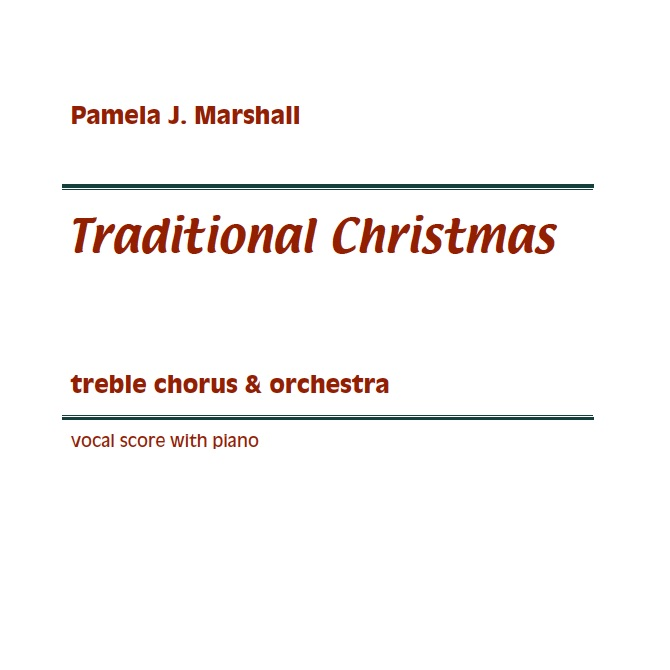 Title page of Traditional Christmas for treble voices/sing-along and orchestra