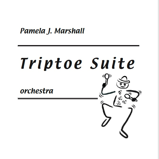 Title page of Triptoe Suite for orchestra